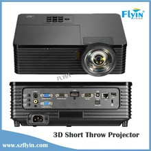 2015 Brand New ! USB HDMI VGA Education Use 100 inches 5000 Lumens 1080P Short Throw 3d DLP projector