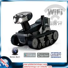 nuevo i-espía tanque cámara gw TLT-728-iPhone / Android / cámara tanque rc wifi almohadilla controlada con la luz llevada