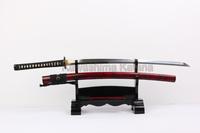 2014 new saya painting bamboo clay-tempered carbon steel 1095 Japanese samurai sword katana with real hamon