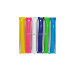 Different Solid color colors Inflatable noisemaker sticks /cheering stick