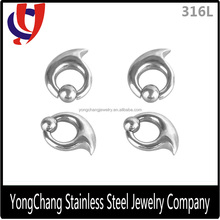 Unique and special circle shape with a ball 316L stainless steel ear stretcher