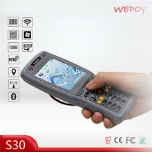 New programmable OEM IP65 WiFi Bluetooth WCDMA 1D 2D CMOS laser scanner industrial smartphone with gps