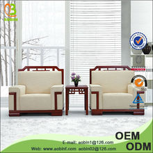 Wooden arm fabric office moroccan sofa