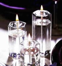 hexagon glass oil lamp