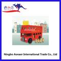 wv1069 de madera de color rojo de londres autobús juguetes