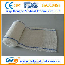 HD-60965 100% Cotton Spandex Elastic crepe medical bandages, CE and FDA approved, Different sizes availiable cotton crepe