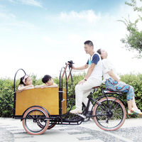 CE Danish bakfiets family 6 speed cargo tricycle 3 wheel motorcycle bike for shopping