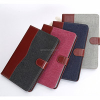 Jeans Cloth smart cover case for ipad mini 2 Flip Stand Tablet Case With Credit Card Slot