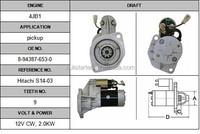 Isuzu 4JB1 starter 2-3204-HI auto starter motor