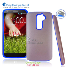 2014 Korea fashion design original cell phone accessories innovative PC silicone hybrid case for LG G2