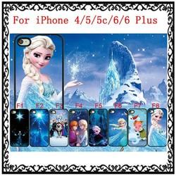 Frozen Colour Printing Plastic Hard Case For iPhone 4/5/5c/6/6 Plus