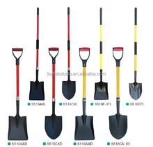 shovel,spade ,fork with firberglass handle ,round point shovel