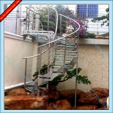 High Class Stainless Steel Outdoor Curved Stair