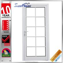 Single/double glass modern design front door design aluminium external doors