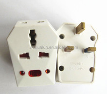 13 amp Electrical Switching socket Adapter 3 Pin Universal travel adapter plug