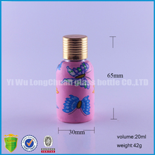 20ml fancy glass bottle with polymer clay cover for packing and decoration