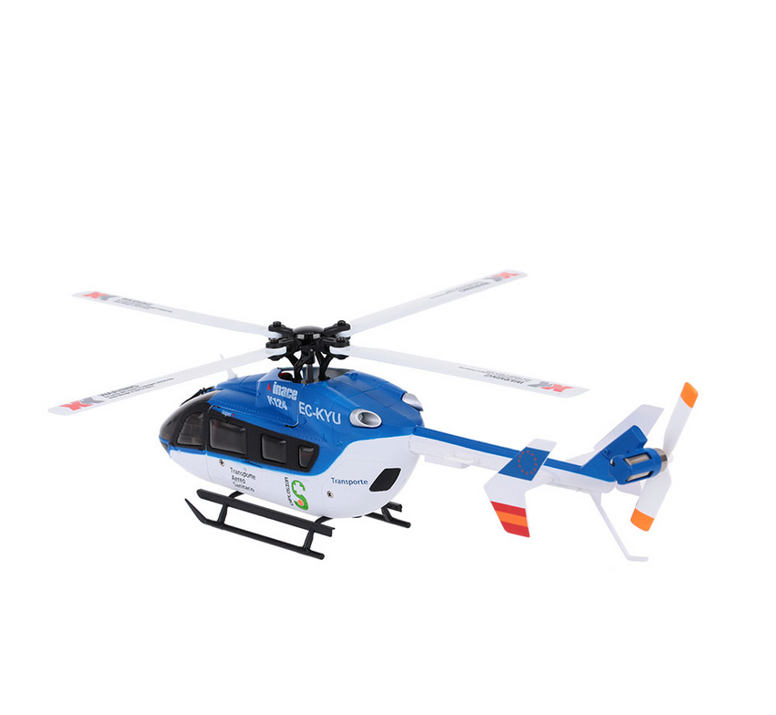XK K124 2.4G 6CH flybarless four blade helicopter RC Helicopter Switchable Controller Headless Helicopter Toys.png