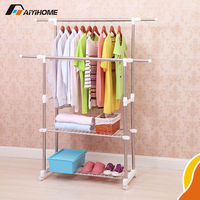 Adjustable clothes hanger balcony clothes hanger clothes hanger bracket