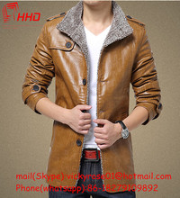 2015 Hot selling and fashion good quality new stylish men's leather coats for sale