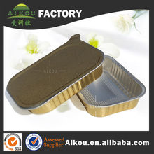 Container Type And Food Use Smooth Coated Airline Aluminium Foil Container For Inflight Catering