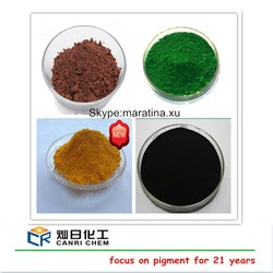 iron powder/ferric oxide red oxide color pigment for cold asphalt in bags