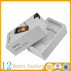 empty paper mobile packaging box smartphone