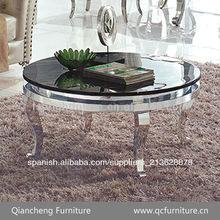 Redonda de acero inoxidable mesa de té 875#