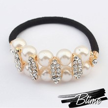 hair accessories pearl&rhinestone women elastic bands&Hair bands