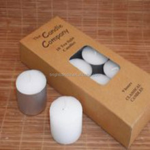 high quality White Tealight Candle 10 pcs paper box pack