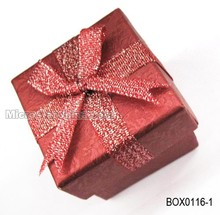 5*5*4.6cm Cheap beautiful bow red box paper small gift box