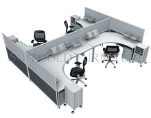 Modern Used New Fashion Office Divider 4 Person Office Workstation(SZ-WS532)