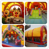 air bouncer inflatable trampoline with roof fro Russia