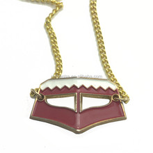 Qatar national day souvenir country flag pendant / qatar metal flag necklace