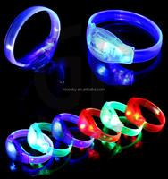 Top seller Popular Party Favor Light up Bracelet Fashion Sound Activated Led Bracelet for Christmas