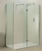 Walk-in shower screen, tempered glass, frosted glass