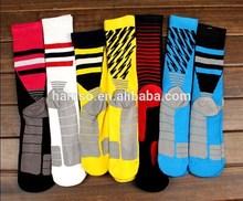 Deporte logotipo personalizado anti slip baloncesto calcetines