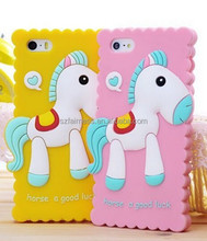 3D Lovely South Korea Horses Silicone dust proof Cell Phone protective 5 Case Cover
