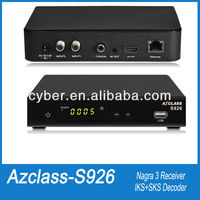 azclass s926 hd nagra 3 twin tuner free iks/sks tv receptor satellite internet sharing receiver az class