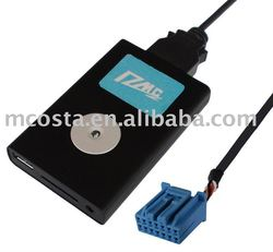 car digital music changer used for honda audio, with bluetooth handsfree function,with ipod aux input function