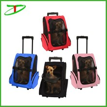 Pet Carrier Dog Cat Rolling Back Pack Travel Airline Wheel Luggage Bag, promotion dog rolling carrier