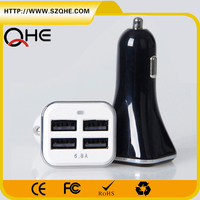 Wholesales Micro Auto Charger USB Mini Car Charger Voltage Meter For Phone