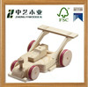 Hot selling natural mini wholesale DIY handmade decoration children wood toy car/wooden race car