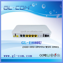 GL-8080 WIFI ONU VOIP Telephone FTTH Triple play epon ONU(optical network unit)