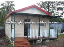 Fashion Small Prefab Modular House with Canopy/Rainshed for High-end Market in Holiday Village