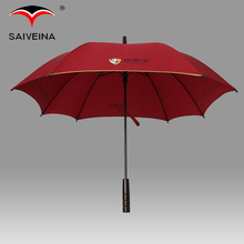 High quality china manufacturing company customized promotional straight red square umbrella
