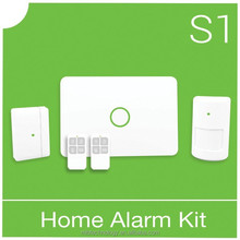 2015 Intelligent home security product gsm pstn dual network burglar alarm systemwith Normal/Home/Emergency/Delay Mode