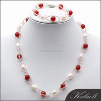 Wholesale fashion bridal jewelry hyderabad pearl set