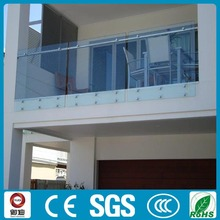 Frameless Glass Railing for Porch/Deck/Balcony/Staircase