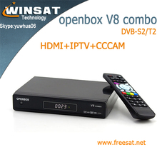 openbox V8 combo satellite receiver no dish DVB-S2/T2 internet tv set top box with iptv cccam cline twin tuner cloud ibox 3