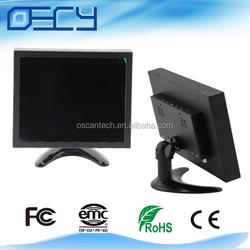 China metal Case LCD CCTV Monitor with VGA/RCA/HDMI/BNC Inputs 10''